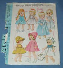 """McCall's 8564 Vintage Sewing Pattern, Doll Clothes small 12-16"""" crafts baby doll"""