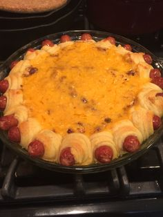 Chili cheese dip with pigs in a blanket rim. Photo from Lane Jaye.