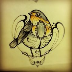Robin Tattoo Design