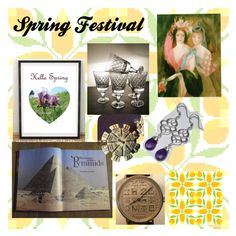 """Spring Festival"" by owlartshop ❤ liked on Polyvore featuring art, vintage and EtsySpecialT"