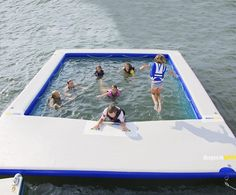 meter Inflatable Sea Pool for yacht,Floating inflatable water pool for swimming.The perfect accessory for throwing a yacht party in the high seas – An inflatable sea pool Floating Dock, Floating House, Floating In Water, Jet Ski Dock, Container Pool, Inflatable Float, Water Play, Boat Dock, Water Crafts