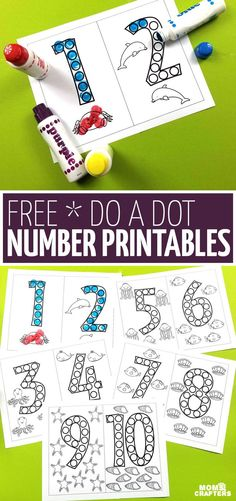 Do A Dot Number Printables These Free Do A Dot Number Printables Are A Great Way For Kids To Have Fun Learning Number Forms Without Worksheets They 39 Re Great For At Home For Pre K Or Kindergarten Prep And A Great Dot Art Coloring Pages For Preschoolers Preschool Prep, Kindergarten Lesson Plans, Preschool Printables, Preschool Classroom, Preschool Crafts, Numbers For Preschool, Home School Preschool, Numbers For Toddlers, Preschool Number Worksheets