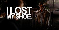 I lost my shoe. :( HIS FACE!! hahahahahahaha
