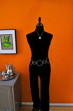 Vintage Black Velour Sleeveless Belled Hostess Mod by PopLifeArts, $60.00