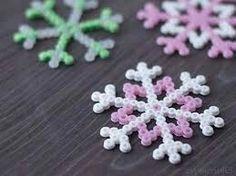 Snowflake perler