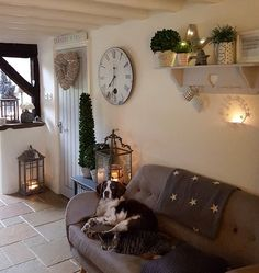 Evening you lovely lot ... we are being battered by the wind at the moment...so nothing more to do than make us all cosy inside...Ralphiebobs and Moomoo are already settled .. so we will wish you a splendid Saturday evening all...xxx #westbarninteriors #starwreath #flymetothemoon #countrykitchen #25beautifulhomes #shelfie #springer