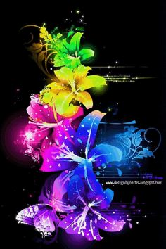 ♥ a #rainbowcolors   #neoncolors   #flowers  for YOU ♥ #flowergif   #neongif   #designbynettis   #artgif   #colormehappy