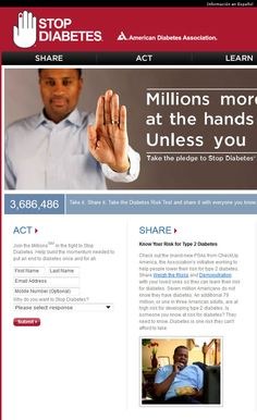 American Diabetes Association's Stop Diabetes Campaign - a fellow sponsor! #diabetes, #diabetic, #health