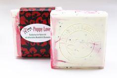 "Natural Handmade Soap ""Poppy Love"" (with Poppy Seeds)"
