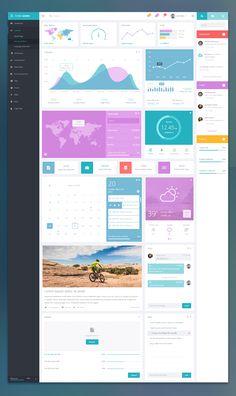 Theme Admin Dashboard – User interface by Ekhtiar Mahmud
