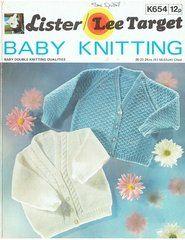 Lister 654 baby cardigan vintage knitting pattern