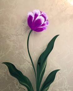 Ebru Sanatı Saçaklı Lale - Marbling Artist Firdevs Çalkanoğlu Hand Painted Sarees, Ebru Art, Turkish Art, Marble Art, Fabric Painting, Islamic Art, Art Techniques, Flower Designs, Flower Art