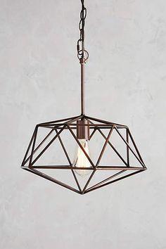 "Tall: 15""H, 12"" diameter Euclidean Pendant Lamp, Diamond - anthropologie.com"