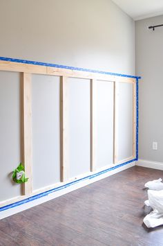 Board and Batten Tutorial – Little Glass Jar – Home Renovation Updating House, Home Projects, Remodel, Home Remodeling, Home Decor, Board And Batten, Home Renovation, Batten, Diy Wainscoting