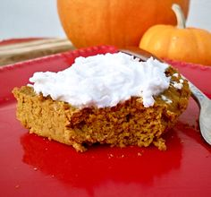Grain-Free Pumpkin Pie with coconut whipped cream...made this in a round pan so I'd get slices, and sweetened with dates. Good!