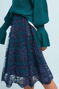 Slide View: 2: Meghan Plaid Skirt