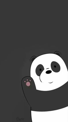Panda We Bare Bears Wallpaper Black Background Cute Panda Wallpaper, Cartoon Wallpaper Iphone, Disney Phone Wallpaper, Bear Wallpaper, Kawaii Wallpaper, Cute Wallpaper Backgrounds, Wallpaper Wallpapers, Photo Wallpaper, Trendy Wallpaper