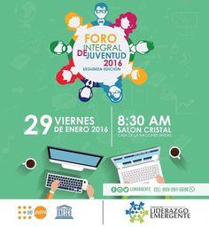 Fundación Liderazgo Emergente realizará Foro Integral de Juventud 2016
