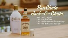 RUMCHATA JACK-O-CHATA 2 parts RumChata 1 partJack Daniel's Tennessee Honey 2 parts Butterscotch Schnapps Combine RumChata,Jack Daniel's Tennessee WhiskeyHoney and Butterscotch Schnapps in a shaker with ice. Shake and strain into a shot glass.