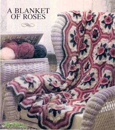 Rosas são sempre maravilhosas Blanket of roses  free pattern diagram