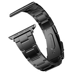 JETech 2106-Watch-Band-42-STEEL-BK 42mm Stainless Steel Strap Wrist Band Replacement with Metal Clasp for Apple Watch All Models - Black