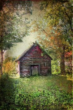 Old School House by the Cemetery by Distressed Jewell, talented artist, via flickr