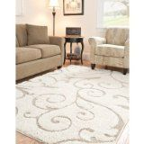 Safavieh Florida Shag Scrollwork Elegance Cream/ Beige Rug Square) Off-White, Size (Polypropylene, Floral) Cream Area Rug, Beige Area Rugs, Classic Artwork, Shag Carpet, Plush Carpet, Beige Carpet, Thing 1, Rug Sale, Square