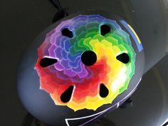 Wrathmatica: custom painted roller derby helmet, Rose City Rollers