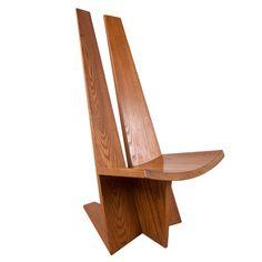 Solid Oak                  Sculptural Chair                Modern Concept