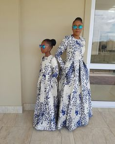 Dress ideas for mother daughter portraits African Print Dresses, African Fashion Dresses, African Dress, African Outfits, African Clothes, African Inspired Fashion, African Print Fashion, Africa Fashion, African Attire