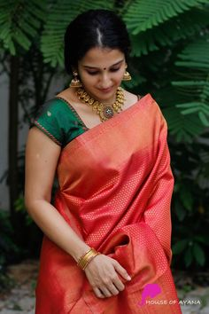 Kanchipuram Silk Sarees Shop in Chennai Bridal Kanchipuram Sarees - House of Ayana Indian Silk Sarees, Indian Beauty Saree, Saris, Chennai, Wedding Saree Collection, Bridal Collection, Saree Jewellery, Pattu Saree Blouse Designs, Silk Saree Kanchipuram