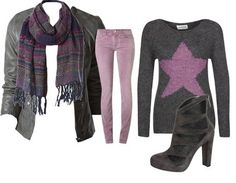 Casual-outfits purple rainy days