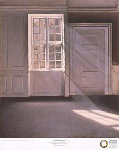 Dust Motes Dancing In Sunbeams, 1900 » Vilhelm Hammershøi &raqu