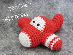 Crochet your own little airplane! This listing is for the crochet PATTERN, not the finished toy. It is available in US English and in Dutch (Translation by Jeannette Kemp). You can download the one you prefer or even both. This pattern is very easy and has many pictures. You should be familiar with: * crocheting in spiral * single crochet * slip stitch * increasing * decreasing You will need: * Three different colors of yarn (I use organic cotton yarn but you can use whatever you like)…