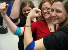 Chamberlain Heidi Carillo, Liz Lindow, and President Jill Donnelly donating at the first Barton Blood Drive held in the Empire State Building in 2004.