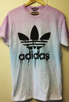 Adidas trefoil orginals customised acid wash tie dye by GarmsWorld, £15.00