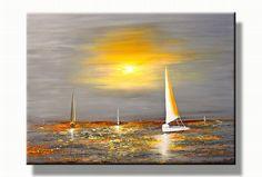 Boten schilderij Zeiljachten | Zee landschap