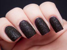 Chalkboard Nails: OPI Vesper Liquid Sand nail polish