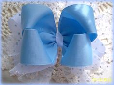 Items similar to Blue and White Hair Bow with Sparkle Tulle.Double Hair Bow with Sparkle Tulle.Toddler Hair Bow on Etsy Toddler Hair Bows, Girl Hair Bows, White Hair Bows, Girl Hairstyles, Tulle, Sparkle, Blue And White, Trending Outfits, Unique Jewelry
