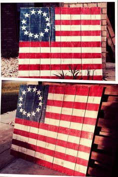 Distressed Pallet Flag