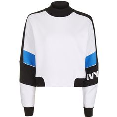 Colour Block Crop Sweat by Ivy Park ($58) ❤ liked on Polyvore featuring tops, hoodies, sweatshirts, color blocked sweatshirt, block top, crop top, logo top and colourblock sweatshirt