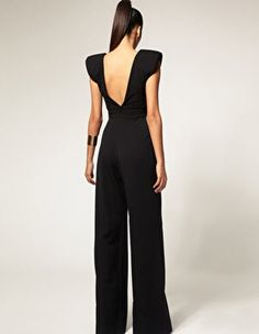 Enlarge Aqua Coco V Neck Jumpsuit Latest Outfits, Fashion Outfits, Womens Fashion, Schwarzer Overall Outfit, Jumpsuit Elegante, Black Jumpsuit Outfit, Fiesta Outfit, Designer Jumpsuits, Dress Me Up