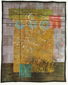 Jennifer Solon - Collage - 3  mixed media collage from hand-dyed textiles, digital imagery, papers and paint.