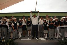 """Como parte del programa """"Un día, una obra Adelante"""", el gobernador Javier Duarte de Ochoa inauguró aulas tecnológicas de la Escuela Secundaria General No. 4 """"David Alfaro Siqueiros"""""""