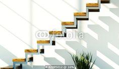 Photo: Loft mit Treppe im Sonnenschein © virtua73 #42285012