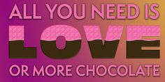 Liebe, Schokolade, Zitat, Sagen, Design, Inspiration