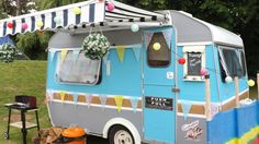 Shabby Chic 2 Berth Retro Caravan I saw this on Ebay yesterday 15/7/2015...just missed the bidding...Oh how I wanted this...!!!