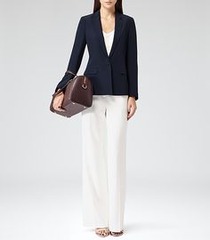 Womens Midnight Sharply Tailored Blazer - Reiss Parlo