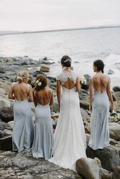"""Thank you @polkadotwedding for sharing with us images from the beautiful wedding of Tracey & Tom ❤! The bridesmaids looked so stunning in #Diamond maxi dresses customized especially for them by #Jarlo ❤ """"The girls' wore dresses from Jarlo London. I found them on Pinterest (definitely my 'go to' site!) and located them on ASOS. However they were sold out. I contacted Jarlo directly and they arranged a special order for me."""""""