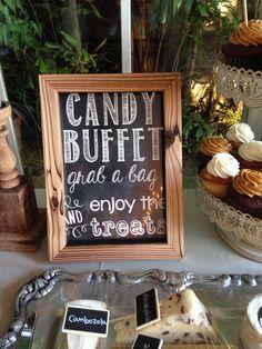 Chalkboard candy buffet sign